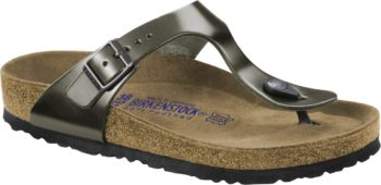 Birkenstock Gizeh Metallic Anthracite Soft