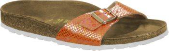 Birkenstock Madrid Shiny Snake Orange