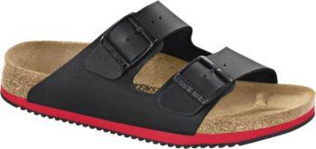Birkenstock Arizona Black & Red Super Grip