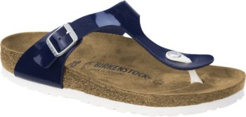 Birkenstock Gizeh Patent Dress Blue