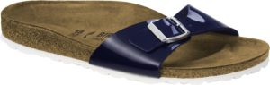 Birkenstock Madrid Patent Dress Blue