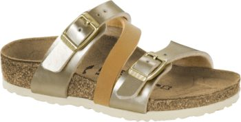 Birkenstock Salina Soft Metallics Gold Brown