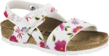 Birkenstock Isabella China Flowers White