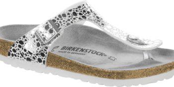 Birkenstock Gizeh Metallic Stones Silver
