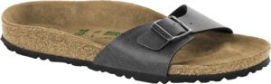 Birkenstock Madrid Pull Up Anthracite Vegan